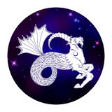 Знак зодиака козерога, символ гороскопа, иллюстрация вектора Стоковое Изображение