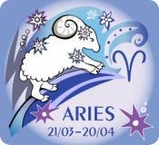 Знак зодиака - Aries также вектор иллюстрации притяжки corel Стоковое фото RF