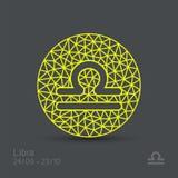Знак зодиака Libra иллюстрация штока