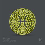 Знак зодиака Pisces бесплатная иллюстрация