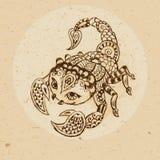 Знак зодиака - Scorpio Стоковые Фото