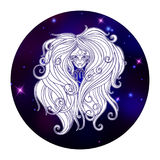 Знак зодиака Virgo, символ гороскопа, иллюстрация вектора Стоковое фото RF