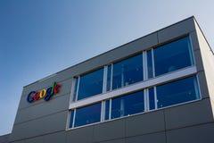 Знак здания Google Корпорации Стоковые Фото