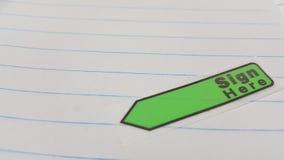 Знак здесь обозначает Стоковое Изображение RF
