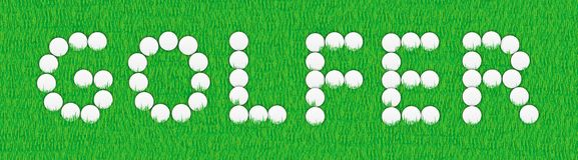 знак игрока в гольф Стоковое Фото