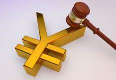 Знак иен золотой иллюстрация вектора