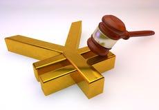 Знак иен золотой бесплатная иллюстрация