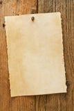 Старый деревенский постаретый, котор хотят знак ковбоя на пергаменте Стоковые Изображения RF