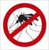 Знак изображения запрета москитов Стоковые Фотографии RF