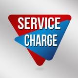 Знак или ярлык платы за услуги для продвижения дела Стоковые Фото