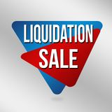Знак или ярлык продажи ликвидирования для продвижения дела Стоковая Фотография