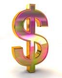 знак иллюстрации доллара 3d Стоковое Изображение RF