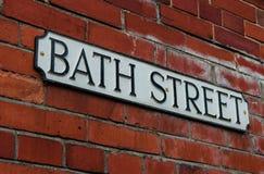 Знак имени дороги улицы ванны стоковое изображение rf