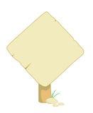 знак информации деревянный Стоковая Фотография RF