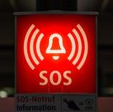 Знак информации для помощи SOS Стоковая Фотография