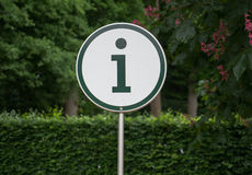 Знак информации Стоковое фото RF