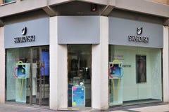 Знак и витрина магазина Swarovsky стоковые фото