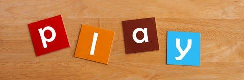 Знак или плакат игры для молодых ребеят школьного возраста Стоковые Фото