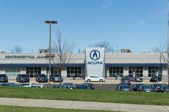 Знак и логотип дилерских полномочий автомобиля Acura стоковые фото