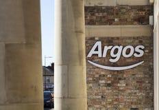 Знак и логотип магазина каталога Аргоса стоковое изображение