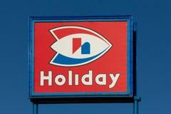 Знак и логотип магазина станции праздника Стоковые Фото