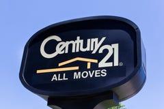 Знак и логотип недвижимости столетия 21 Стоковое Фото