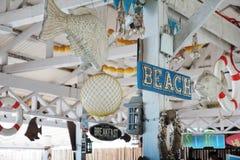 Знак и оформление пляжа Стоковое Изображение RF