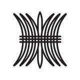 Знак и символ вектора значка сена изолированные на белой предпосылке, концепции логотипа сена, символе плана, линейном знаке, сим иллюстрация штока