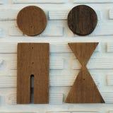 Знак и символ туалета Стоковое Фото