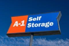 Знак и товарный знак хранения собственной личности A-1Self Стоковая Фотография RF