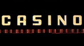 знак казино неоновый Стоковое Изображение