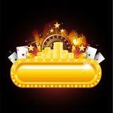 знак казино неоновый Стоковая Фотография