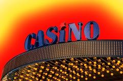 знак казино Стоковые Фотографии RF