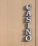 Знак казино Стоковое Фото