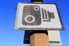 Знак камеры слежения Стоковое Изображение