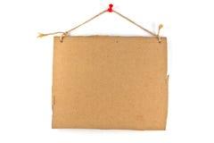 Знак картона Стоковые Фото