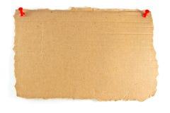 Знак картона Стоковое фото RF