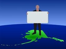 знак карты человека Аляски Стоковое Изображение