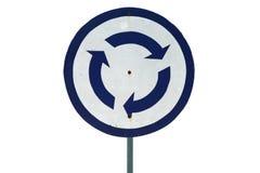 Знак карусели движения изолированный на белизне Стоковое Фото