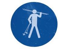 Знак катания на лыжах стоковые изображения
