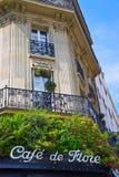 Знак кафа Парижа Стоковые Фото