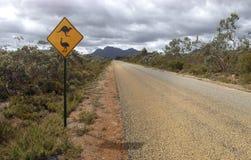 Знак кенгуру и страуса Стоковая Фотография