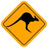 Знак кенгуру Стоковые Изображения RF