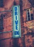 Знак кинотеатра въезда Стоковое Фото