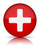 Знак кнопки скорой помощи медицинский Стоковое Изображение