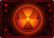 знак кнопки ядерный Стоковое Фото
