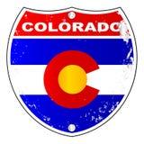 Знак Колорадо межгосударственный иллюстрация вектора