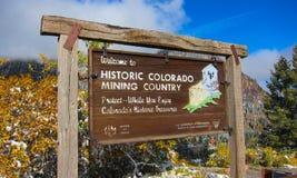 Знак Колорадо стоковые фото