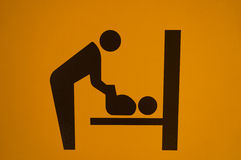 Знак комнаты заботы младенца Стоковые Изображения