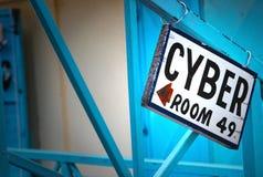 знак комнаты cyber Стоковое Изображение RF